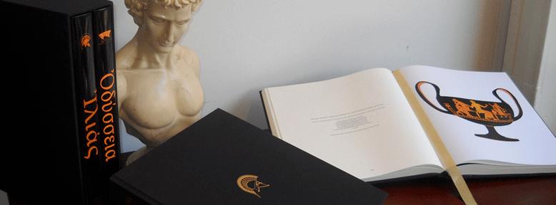 Homer's Iliad and Odyssey Greek vase drawings.